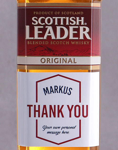fine-alcohol: Personalised Thank You Scottish Leader!
