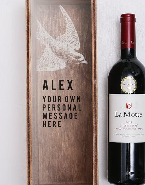 personalised: Personalised Swallow Printed Wine Crate!