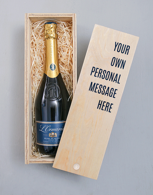 personalised: Personalised Message Printed Bubbly Crate!