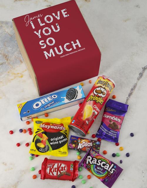 anniversary: Personalised Love You Gourmet Box!