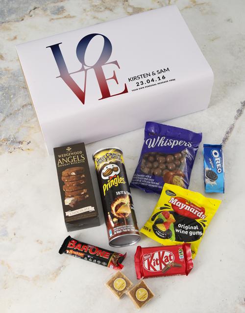 anniversary: Personalised Love Gourmet Giftbox!