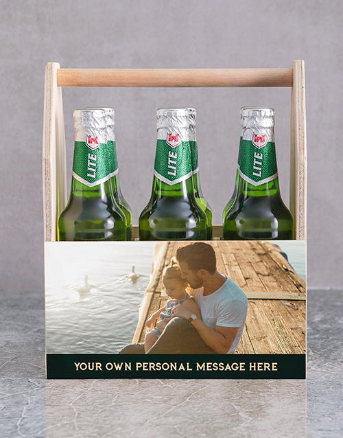 fathers-day: Personalised Photo Printed Beer Caddy!