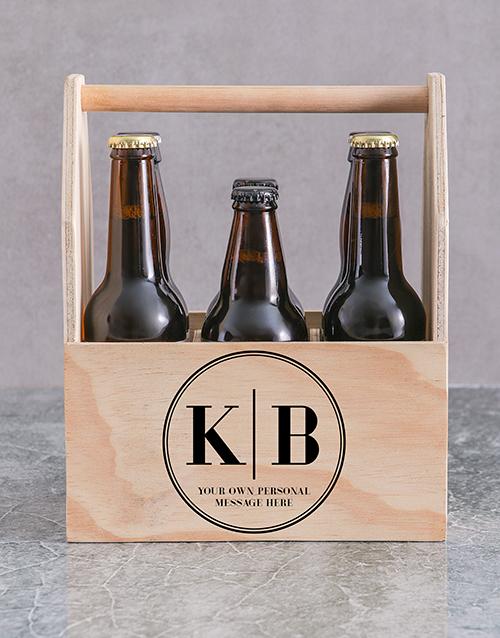 christmas: Personalised Monogram Printed Beer Crate!