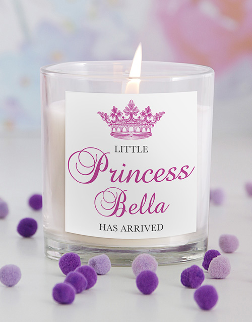 personalised: Little Princess New Baby Candle!