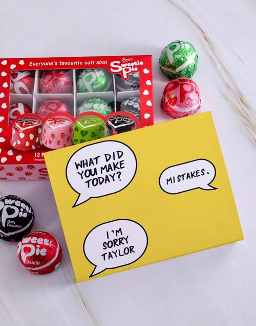 personalised: Personalised Sorry Sweetie Pies!