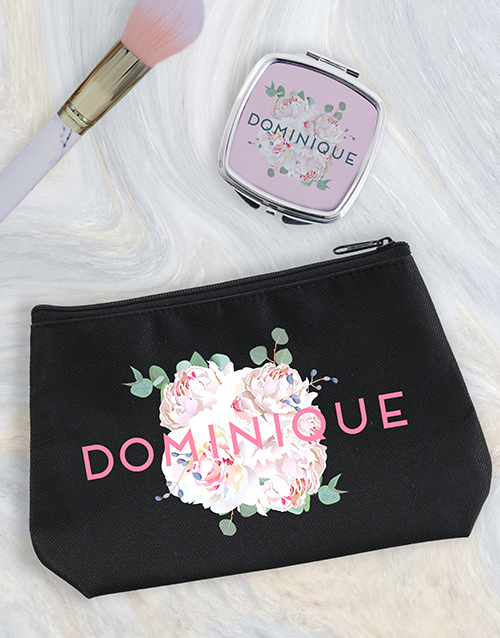bosses-day: Personalised Peony Cosmetic Bag!