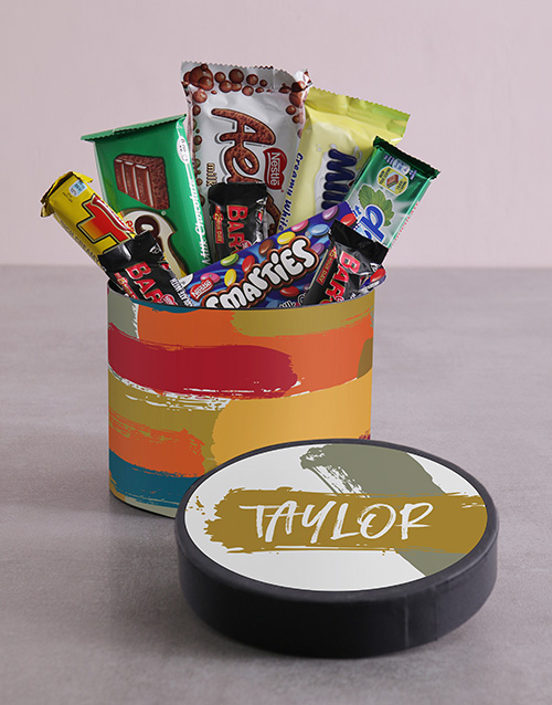 personalised: Personalised Modern Hat Box with Treats!