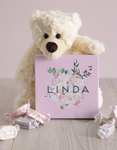 spring-day: Personalised Floral Box of Nougat!