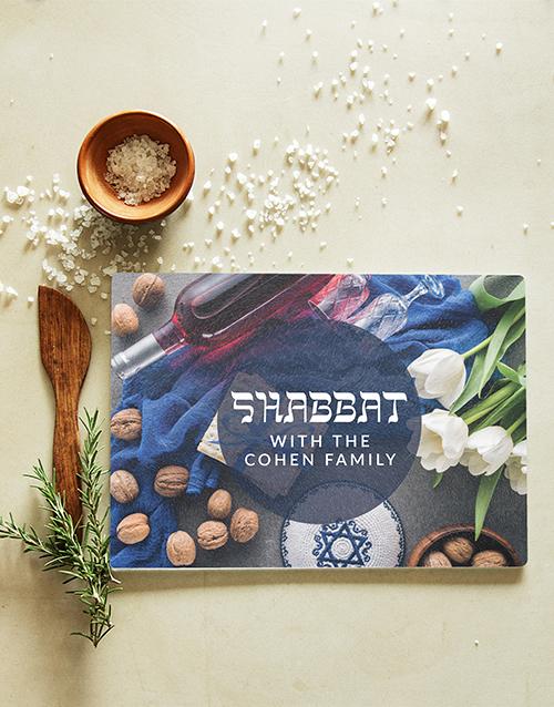 faith: Personalised Shabbat Chopping Board!