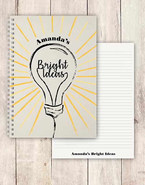 personalised: Personalised Bright Ideas Notebook!