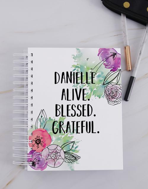 christmas: Personalised Grateful Journal!