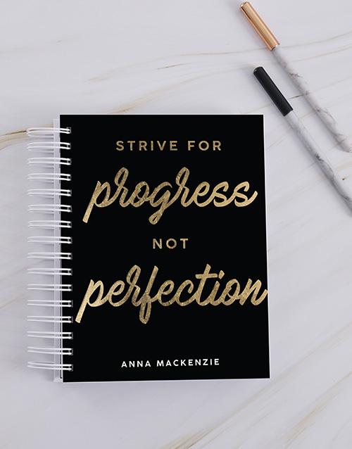 christmas: Personalised Strive For Progress Journal!