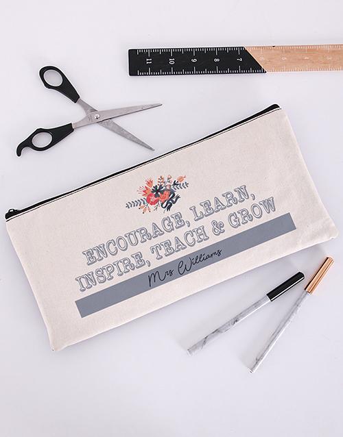 personalised: Personalised Encourage Pencil Bag!