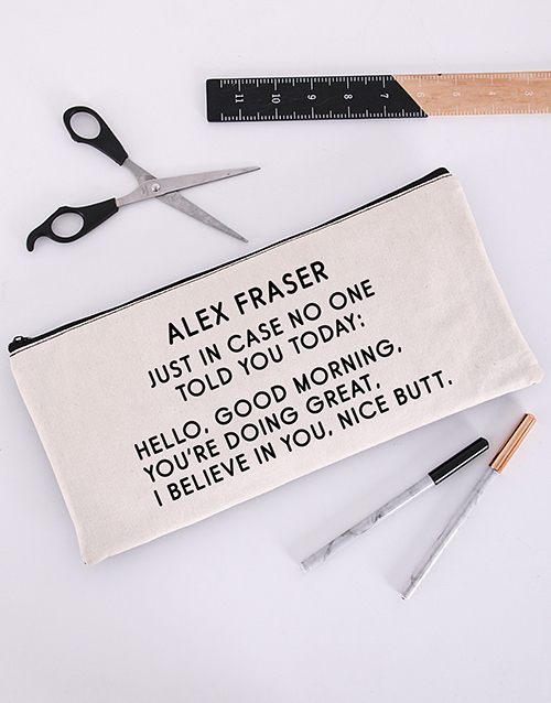 pencil-bags: Personalised Just In Case Pencil Bag!