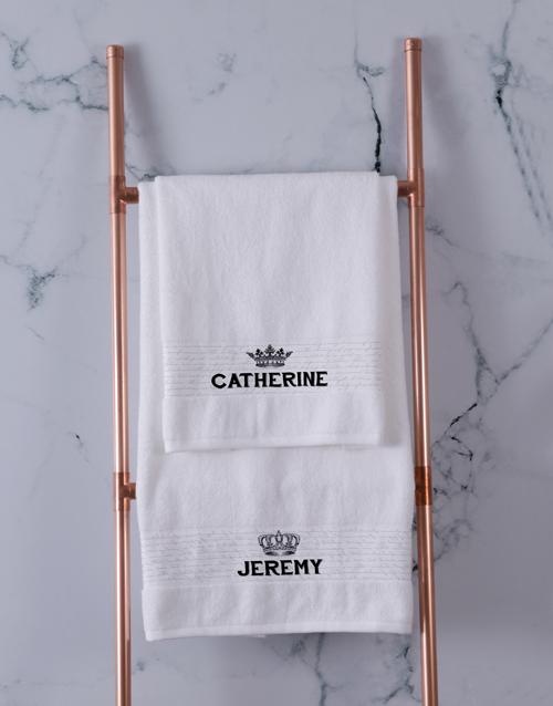 christmas: Personalised Royal White Towel Set!