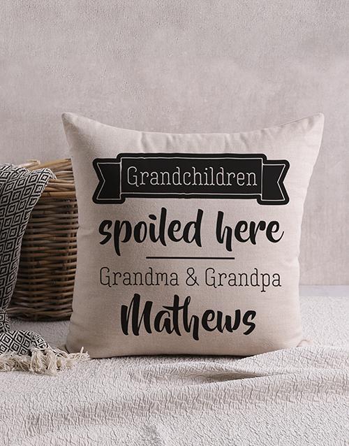 grandparents-day: Personalised Happy Grandchildren Scatter Cushion!