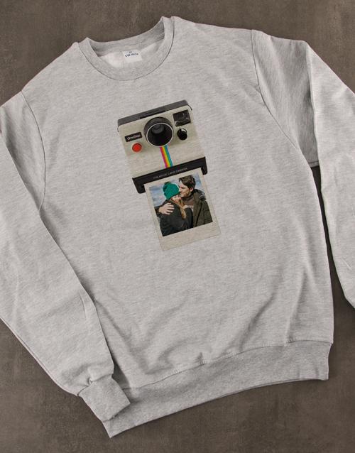 clothing: Personalised Polaroid Sweater!