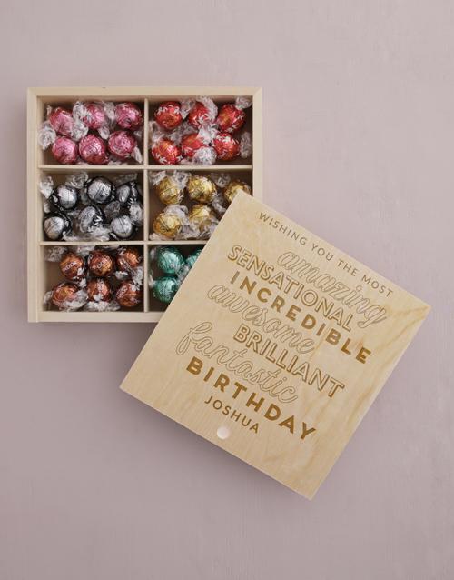 personalised: Personalised Fantasic Birthday Lindt Treasure Box!