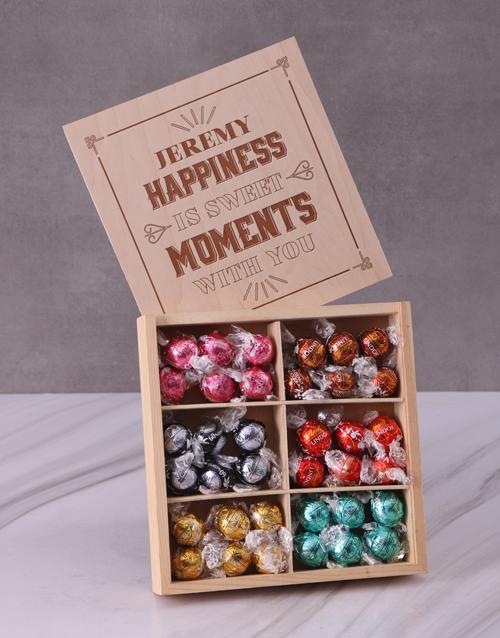 personalised: Personalised Sweet Moments Lindt Treasure Box!