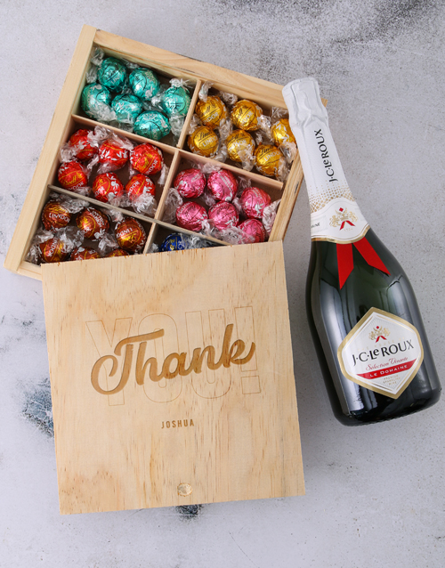 personalised: Personalised Thank You Lindt Treasure Box!