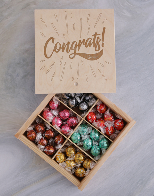 personalised: Personalised Congrats Treasure Chest!