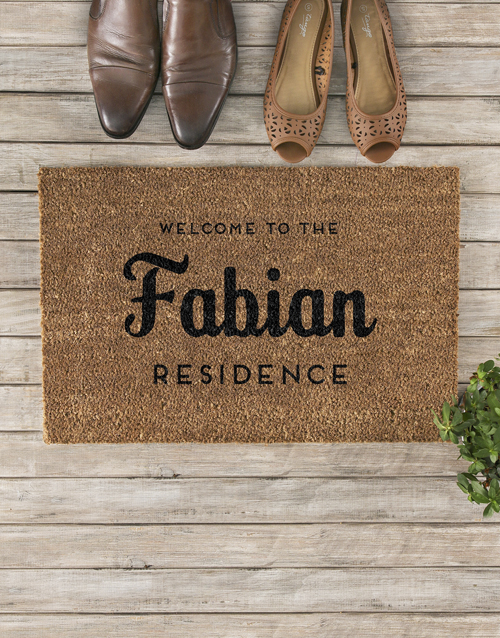home-decor: Personalised Family Residence Doormat!