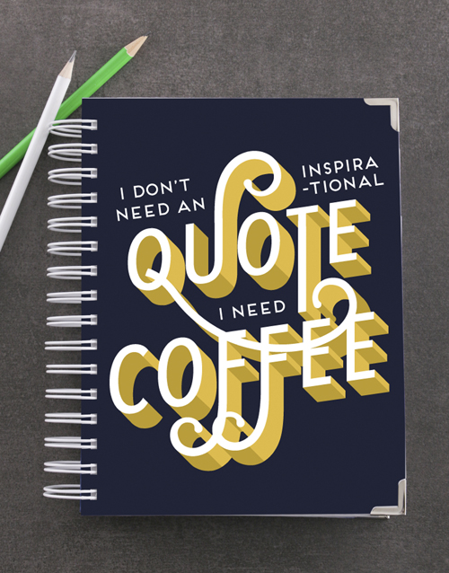 bosses-day: Personalised Need Coffee Goal Journal!