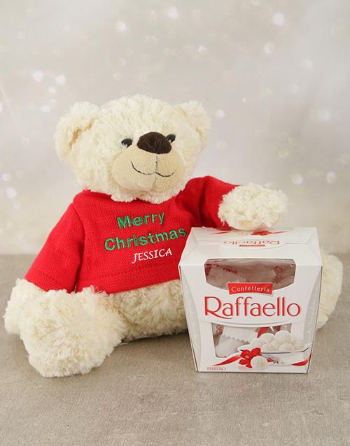 christmas: Personalised Christmas Teddy and Raffaello!