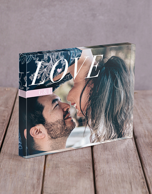 valentines-day: Personalised Love Initals Acrylic Block!