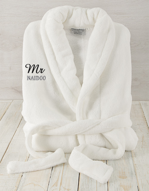 bath-and-body: Personalised Mr White Fleece Gown!