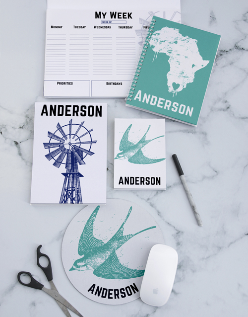 gifts: Personalised Vintage Africa Noteset!