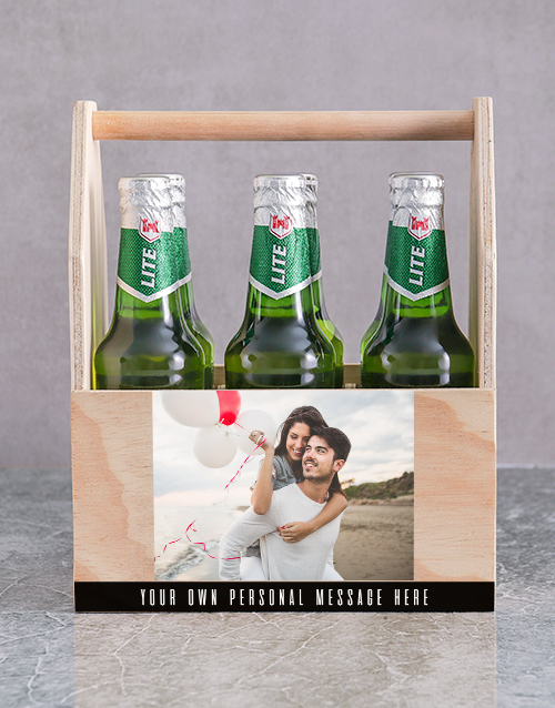 valentines-day: Personalised Photo Printed Beer Crate!