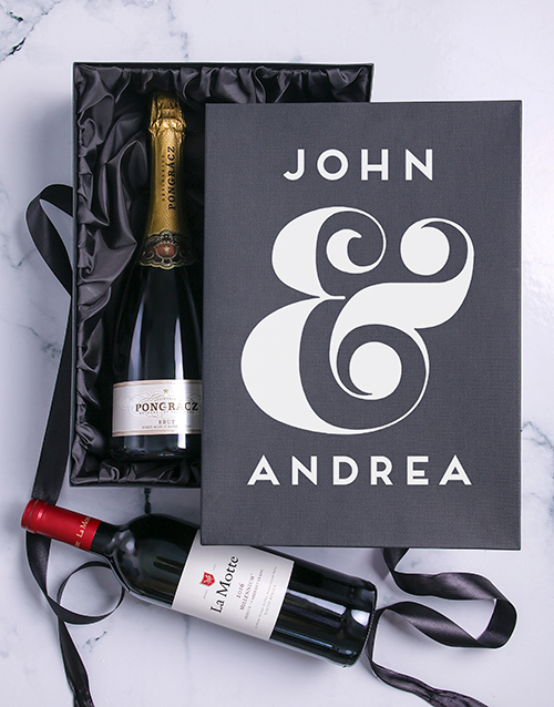 personalised: Personalised Champagne and Millennium Duo!