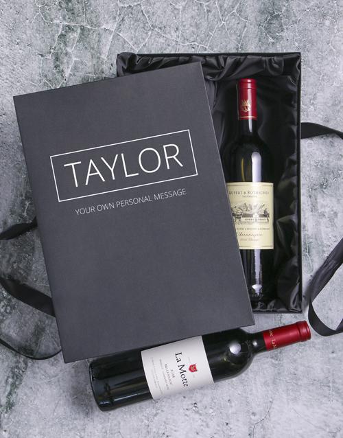 valentines-day: Personalised Rothschild and Millennium Wine Duo!