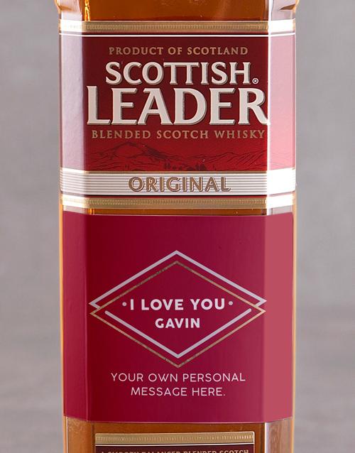 fine-alcohol: Personalised I Love You Scottish Leader!