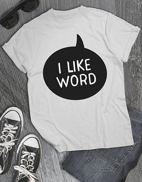 clothing: Personalised I Like T Shirt !