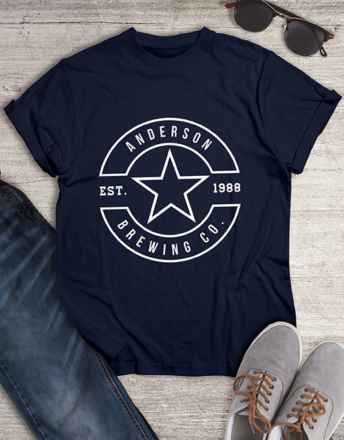 clothing: Personalised Navy Brewing T Shirt !