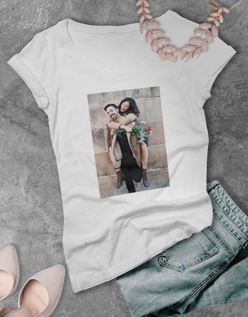 christmas: Personalised Photo Ladies T Shirt!
