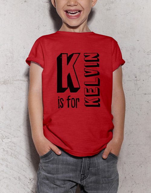 christmas: Personalised Letter Kids T Shirt!