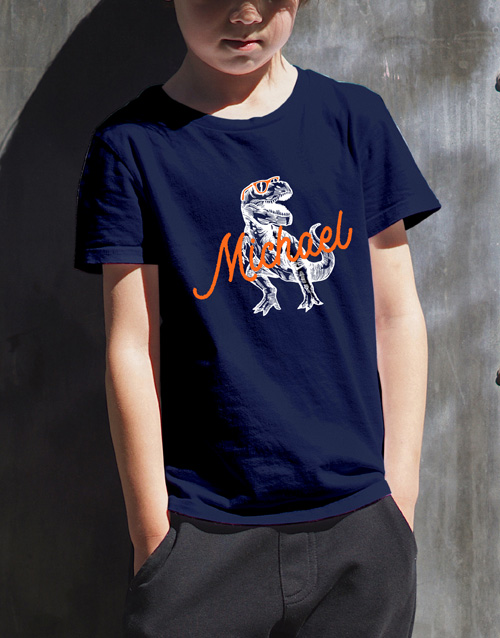 christmas: Personalised T Rex T Shirt!