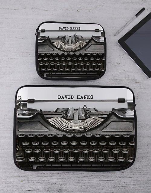 birthday: Personalised Typewriter Tablet or Laptop Sleeve!