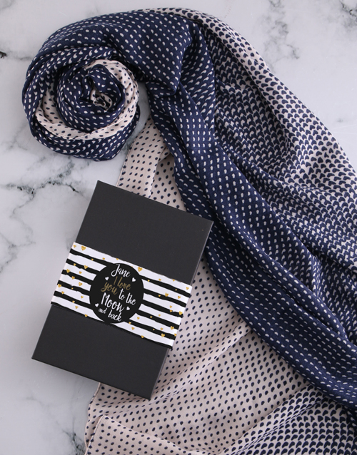 apparel: Personalised To The Moon And Back Scarf Gift!