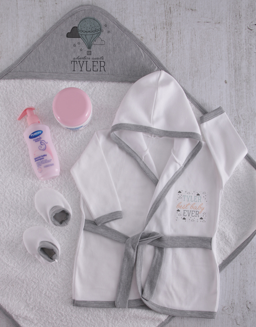 baby: Personalised Tiny Clouds Spoil Set!