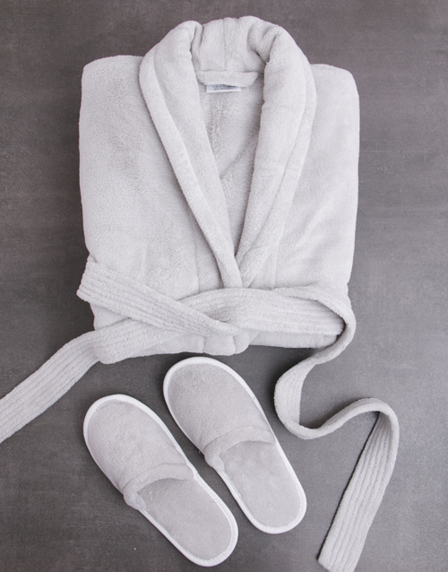 mothers-day: Personalised Rose Fleece Gown and Slipper Set!