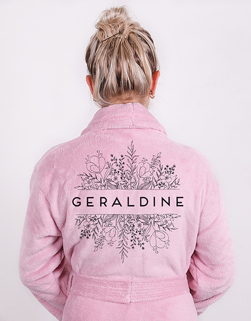 christmas: Personalised Floral Botany Fleece Gown!