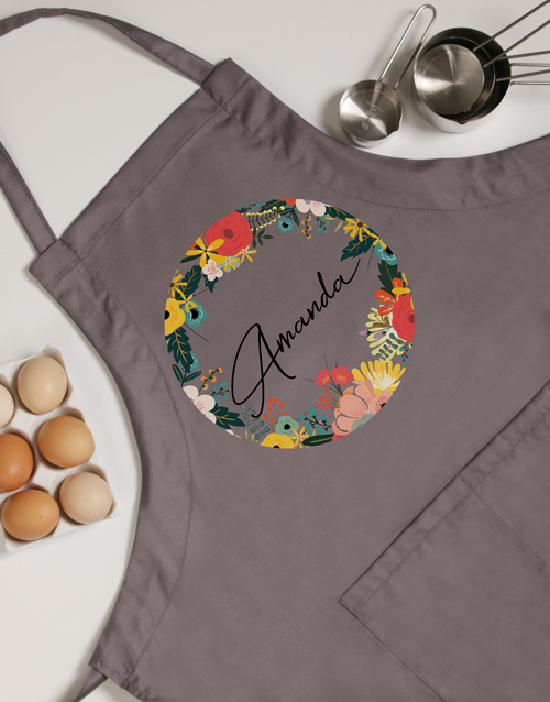 spring-day: Personalised Circle Floral Apron!