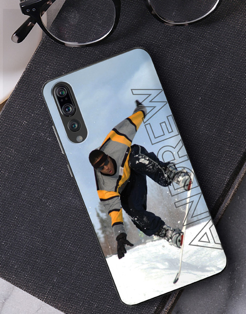 fathers-day: Personalised Ghost Text Photo Huawei Cover!