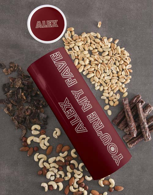 valentines-day: Personalised Fave Biltong and Nut Tube!