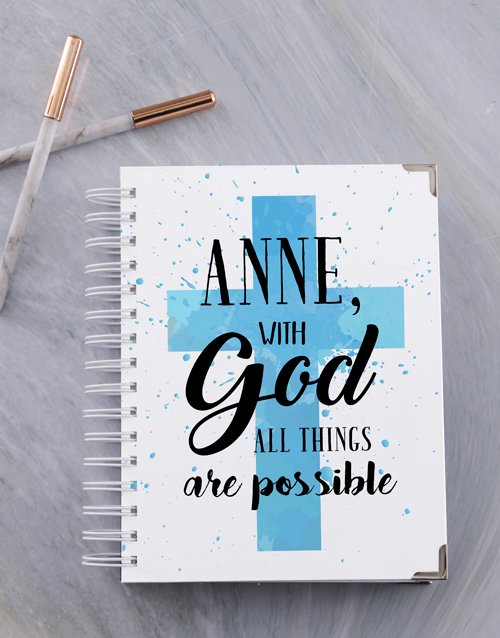 personalised: Personalised All Things Are Possible A5 Journal!