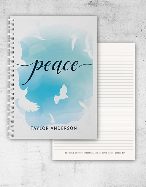personalised: Personalised Peace and Faith Notebook!